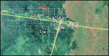 thumbnail map of the Tok, Alaska, area, linked to larger version.